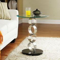 Homelegance Running Circle Pillar End Table