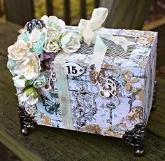 Msliberty Creations: Mixed Media Altered Box for Wild Orchid Crafts