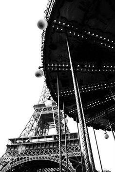 Paris Photograph Eiffel Tower Carousel Merry Go Round