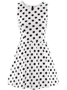 Shop White Sleeveless Polka Dot Ruffle Dress online. Sheinside offers White Sleeveless Polka Dot Ruffle Dress & more to fit your fashionable needs. Free Shipping Worldwide!
