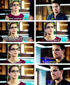 Oliver & Felicity #Arrow #DrawBackYourBow #Olicity
