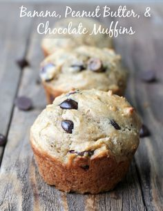 These wholesome muffins made with bananas, peanut butter, and Greek yogurt are packed with protein and fiber to keep you satisfied for hours. Each muffin has chocolate chips sprinkled throughout because…everything is better with a little chocolate. This month I'm on a mission to fill my freezer with make-ahead snacks. The end of the school …