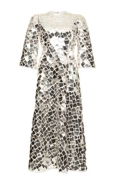 Mirror Mosaic Long Sleeve Dress by DOLCE & GABBANA for Preorder on Moda Operandi