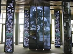 Interactive signs at the Ford Alumni Center, University of Oregon, USA by Second Story