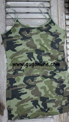 Camouflage Camisole $8.95 www.gugonline.com