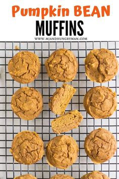 These healthy pumpkin bean muffins are moist and packed with protein, iron, and fiber! Enjoy them for breakfast, snack, or add them to your kid's lunchbox! Healthy Sweet Snacks, Nutritious Snacks, Protein Snacks, Baby Puree Recipes, Baby Food Recipes, Toddler Recipes, Healthy Meals For Kids, Kids Meals, Baby Meals