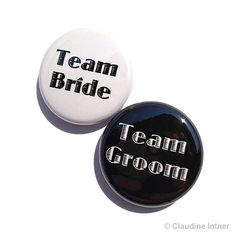 Team Bride or Team Groom Magnets or Pins Button by claudine, $1.50
