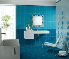 Des cloisons de salle de bains en briques de verre leroy - Faience salle de bain discount ...