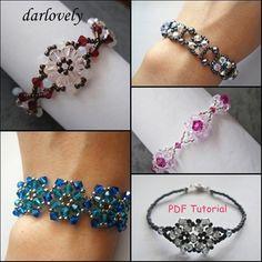 5 Swarovski Flower Bracelet Series I