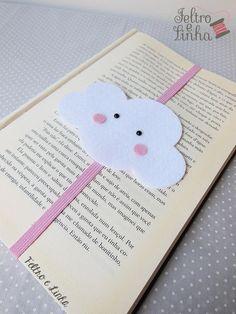 Felt Crafts Diy, Diy Arts And Crafts, Book Crafts, Paper Crafts, Felt Bookmark, Bookmark Craft, Creative Bookmarks, Diy Bookmarks, Diy Marque Page