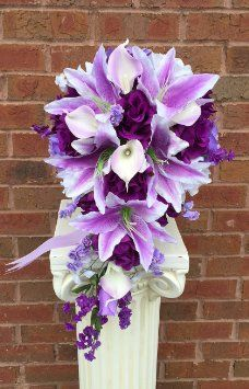 dark purple cascading calla lily bouquet - Google Search