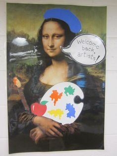 Mona welcomes my students, as they start their year with me @ BMS.