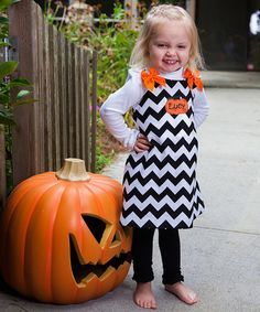Love this Brown Chevron Personalized Dress - Infant, Toddler & Girls on #zulily! #zulilyfinds