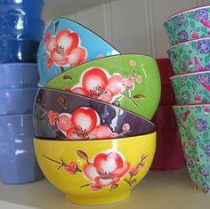 Pretty Ceramic Flower Bowls