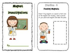 A lot of good stuff:  http://pinterest.com/lindsedh/MAGNETS FRee science center activites printable for learning about magnets. This will be perfect for my science unit next year!