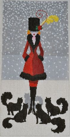 Cat Lady - Fancy Work 37 - Was $200 asking $80 - Contact Pamela Harding @Tami Arnold Arnold Arnold Arnold Boecking@comcast.net