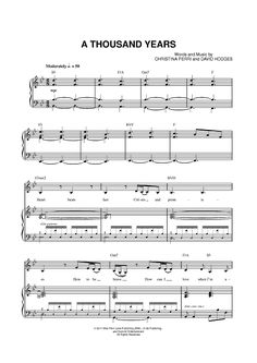 A Thousand Years Sheet Music Preview Page 1
