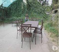Resultado de imagen para muebles terraza fierro forjado Andres Gasman