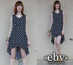 #Vintage #90s #Daisy #Floral #Ruffle High Low #Fishtail #Tuxedo Sun #Dress S M L by shopEBV http://etsy.me/13I9Y7f via @Etsy #etsy #summer by shopEBV, $40.00