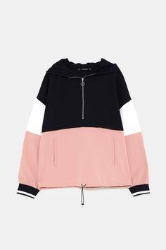 Size: small Zara, Hoodies, Sweatshirts, Funny Shirts, Color Blocking, Street Wear, Jackets For Women, Couture, Womens Fashion