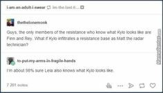 That response  not to mention Chewie and anyone who knew Ben as a child