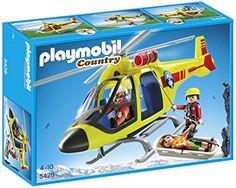 AMAZON- Playmobil - Granja, helicóptero rescate (5428)