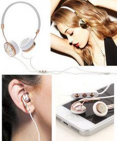 Fashionable Headphones and Earphones.