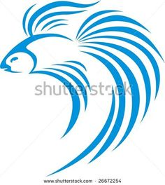 Siamese Fighting Fish by cartoons, via Shutterstock