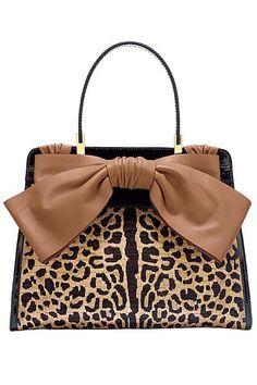 Leopard bag with a big bow | La Beℓℓe ℳystère