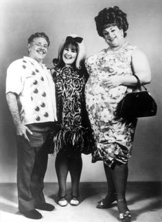 Jerry Stiller (as Wilbur Turnblad), Ricki Lake (as Tracy Turnblad) and Divine (as Edna Turnblad) from John Waters' Hairspray, 1988