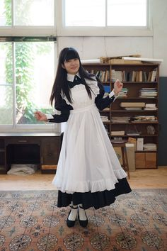 Types Of Dresses, Cute Dresses, Cute Outfits, Flower Girl Dresses, Maid Cosplay, Cute Cosplay, Maid Outfit, Maid Dress, Victorian Maid
