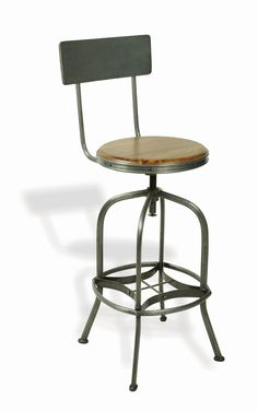 industrialised bar stool with back rest 24700 seating bar stools buy vintage buy industrial furniture