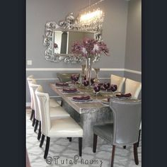 Z Gallery Timber Dining Table Linear Crystal Strand Chandelier Is Ready For Spring Entertaining