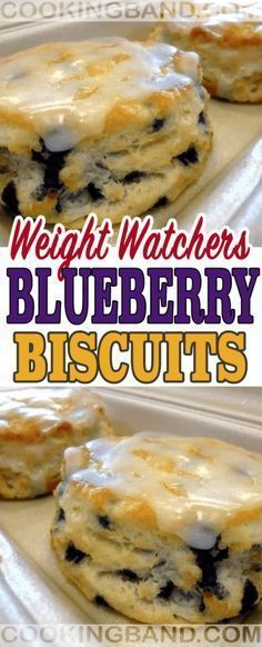 Blueberry Biscuits Recipe // Weight Watchers Friendly // #Biscuits #Blueberry #healthydessertsweightwatchers #Watchers #Weight #skinny #smarpoint