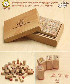 cute korean rubber stamps