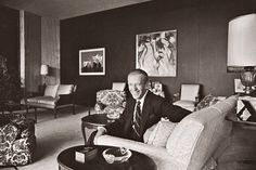 Fred Astaire built his Beverly Hills residence in 1959, five years after the death of his first wife, socialite Phyllis Potter. The bachelor pad's living room featured comfortable modern upholstered furniture clad in lively patterned fabrics, and walls hung with contemporary art.