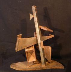 Composition Sculpture Acier Soudé Ancien SIGNATURE   T   vers 1960 A IDENTIFIER