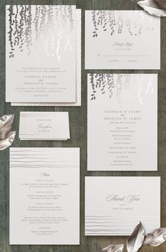 "wedding-scrap-book: ""Also Featured by Minted (Created by Minted) I love these for a winter wedding! The silver is wonderful. """