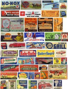 Vintage Tins, Vintage Labels, Advertising Signs, Vintage Advertisements, Vintage Banner, Train Posters, Old Signs, Free Sign, Store Signs