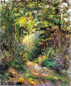 Camille Pissarro - Path through the Woods, 1876.