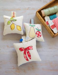 Make a One-of-a-kind Pincushion with this tutorial from Minki Kim. Use small scraps of bright fabrics and trims to create a small, treasured pincushion.