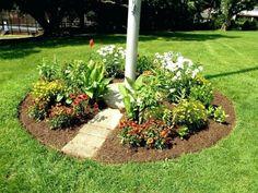 rabatt anlegen Landscape Around Flagpole Landscape Edging Ideas Concrete . Flag Pole Landscaping, Fire Pit Landscaping, Country Landscaping, Garden Landscaping, Landscaping Ideas, Pergola Pictures, Yard Flags, Garden Route, Lawn And Garden