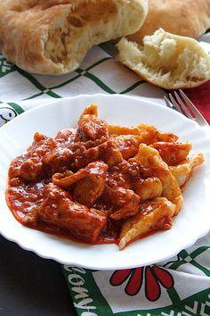 Istrian Chicken Goulash - Palachinka - I Cook Different Serbian Recipes, Hungarian Recipes, Serbian Food, Croation Recipes, Wine Recipes, Cooking Recipes, Keto Recipes, Slovenian Food, Croatian Cuisine
