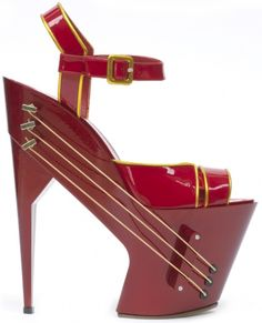 Wireless guitar stilettos.. .this is 1 way 2 feel the music~ Cool idea~ ugly shoes tho. . .