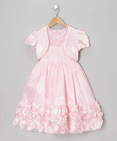 Pink Rose Dress & Bolero - Toddler & Girls