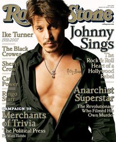 Johnny Depp on the cover of Rolling Stones Magazine