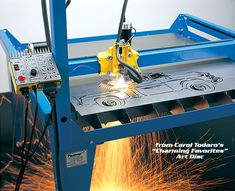 See why people prefer PlasmaCAM's affordable CNC Plasma Cutting Table. This is the best plasma cutting machine for creating metal art, custom auto parts, or any other metal shape you may need! Cnc Plasma Table, Cnc Table, Welding Table, Arduino Cnc, Diy Cnc Router, Corte Plasma, Plasma Cutter Art, Steel Fabrication, 3d Cnc