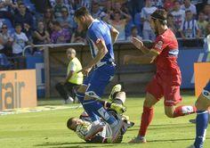 El '7' de Monelos regatea a Pau López, meta del Espanyol, antes de anotar a placer el 3-0 el pasado domingo quintana