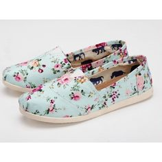Summer Flower Print Canvas Shoes ($32.99)