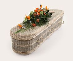 Seagrass coffins from Natural Endings Funeral Services. Manchester, Cheshire and South Lancashire. Green Funeral, Funeral Cards, Coffin, Biodegradable Products, Basket, Shapes, Pillows, Nature, Manchester